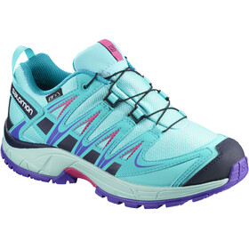 Salomon Junior XA Pro 3D CSWP Shoes Blue Curacao/Eggshell Blue/Purple Opulence